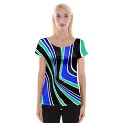 Colors of 70 s Women s Cap Sleeve Top