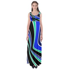 Colors of 70 s Empire Waist Maxi Dress
