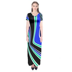 Colors Of 70 s Short Sleeve Maxi Dress