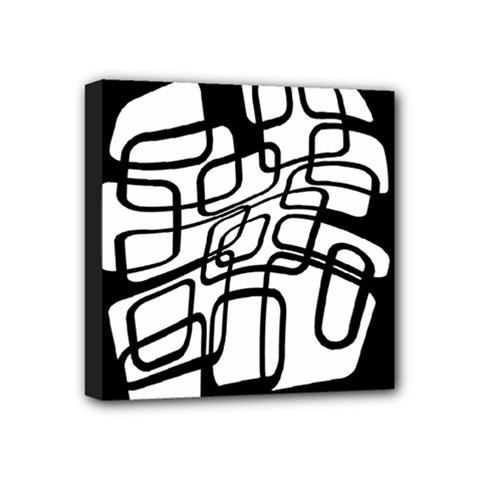 White abstraction Mini Canvas 4  x 4