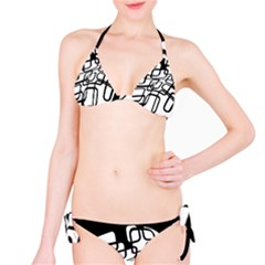 White abstraction Bikini Set