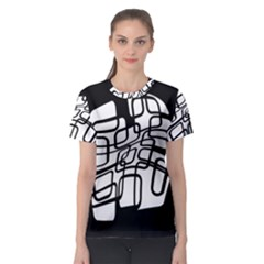 White abstraction Women s Sport Mesh Tee