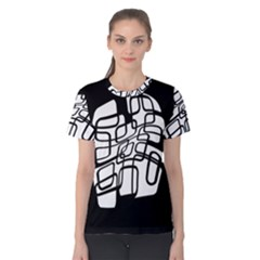 White abstraction Women s Cotton Tee