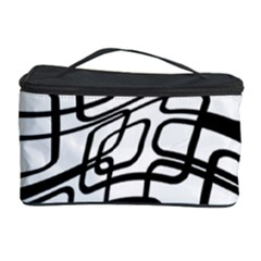 White abstraction Cosmetic Storage Case