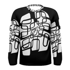White abstraction Men s Long Sleeve Tee