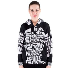 White abstraction Women s Zipper Hoodie