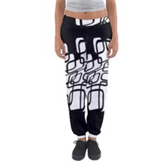 White abstraction Women s Jogger Sweatpants