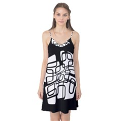 White abstraction Camis Nightgown