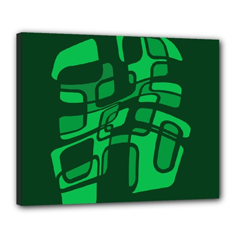 Green abstraction Canvas 20  x 16