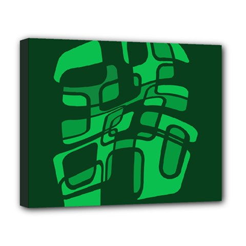Green abstraction Deluxe Canvas 20  x 16