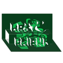 Green abstraction Best Friends 3D Greeting Card (8x4)