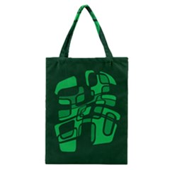 Green abstraction Classic Tote Bag