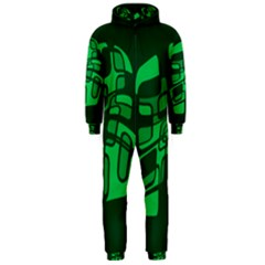 Green abstraction Hooded Jumpsuit (Men)