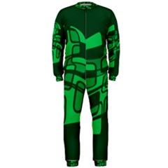 Green abstraction OnePiece Jumpsuit (Men)