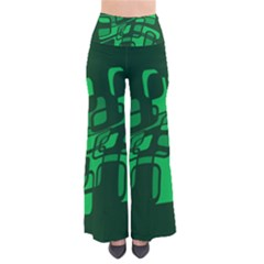 Green abstraction Pants