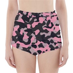 Kitty Camo High-Waisted Bikini Bottoms
