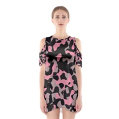 Kitty Camo Cutout Shoulder Dress