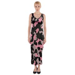 Kitty Camo Fitted Maxi Dress