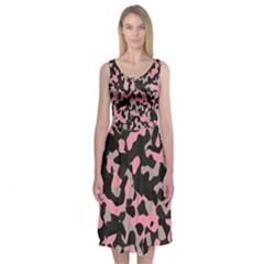 Kitty Camo Midi Sleeveless Dress