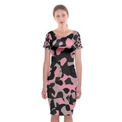 Kitty Camo Classic Short Sleeve Midi Dress