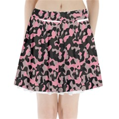 Kitty Camo Pleated Mini Mesh Skirt