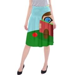 Brainiac Midi Beach Skirt