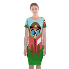 Brainiac Classic Short Sleeve Midi Dress