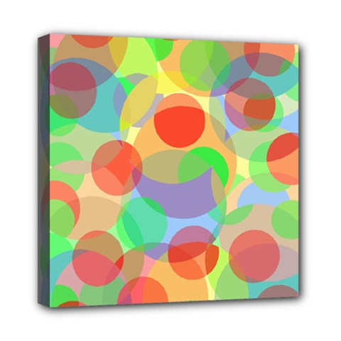 Colorful circles Mini Canvas 8  x 8