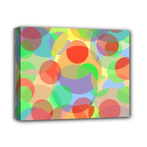 Colorful circles Deluxe Canvas 14  x 11