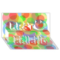 Colorful circles Best Friends 3D Greeting Card (8x4)