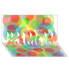 Colorful circles #1 MOM 3D Greeting Cards (8x4)