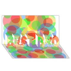 Colorful circles BEST BRO 3D Greeting Card (8x4)