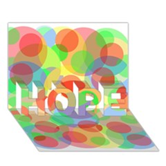 Colorful circles HOPE 3D Greeting Card (7x5)