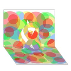 Colorful circles Ribbon 3D Greeting Card (7x5)