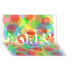 Colorful circles SORRY 3D Greeting Card (8x4)
