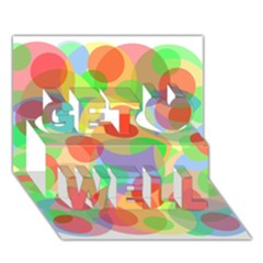 Colorful circles Get Well 3D Greeting Card (7x5)