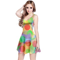 Colorful circles Reversible Sleeveless Dress