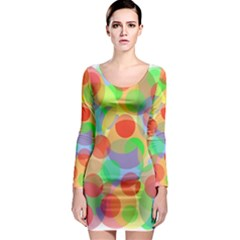 Colorful circles Long Sleeve Bodycon Dress