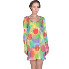 Colorful circles Long Sleeve Nightdress