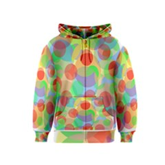 Colorful circles Kids  Zipper Hoodie