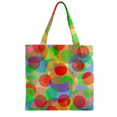 Colorful circles Zipper Grocery Tote Bag
