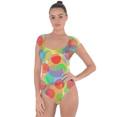 Colorful circles Short Sleeve Leotard