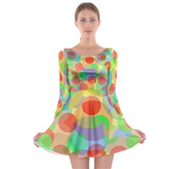 Colorful circles Long Sleeve Skater Dress