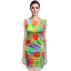 Colorful Circles Classic Sleeveless Midi Dress