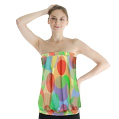 Colorful Circles Strapless Top