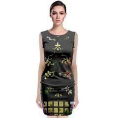 Bouquet Classic Sleeveless Midi Dress