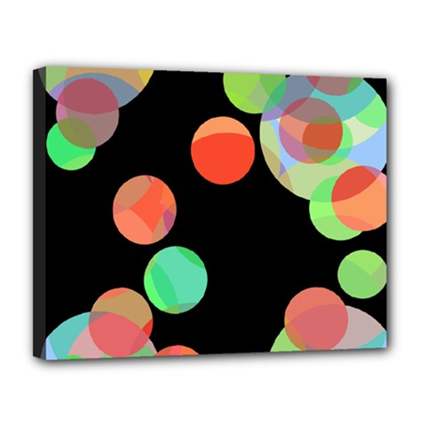 Colorful circles Canvas 14  x 11