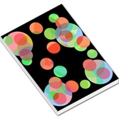 Colorful circles Large Memo Pads