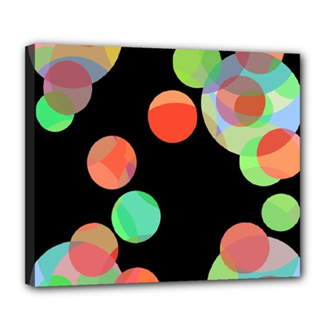 Colorful circles Deluxe Canvas 24  x 20