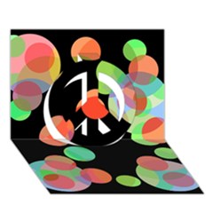 Colorful Circles Peace Sign 3d Greeting Card (7x5)